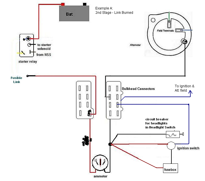 fusible links in charging systems with ammeter Jandy Link Fuse Diagram fusible link worked